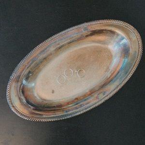 Vintage // Silver Patina Dish